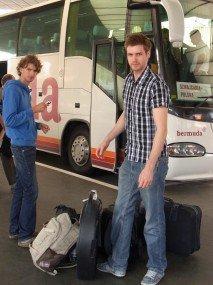 Ankunft in Lodz 2011